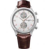 Herren William L 1985 Small Chrono Chronograph Watch WLAC02GOCM