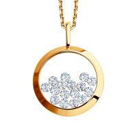 Damen Sokolov 14 Carat Gold Kaleidoscope würfelförmig Zirconia Anhänger