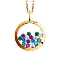 Ladies Sokolov 14 Carat Gold Kaleidoscope Cubic Zirconia Pendant 34927