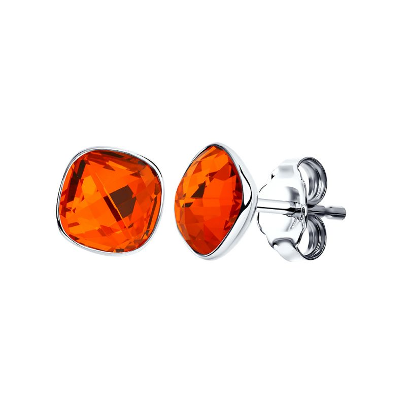 Ladies Sokolov Sterling Silver Express Yourself Red Crystal Stud Earrings 94022055