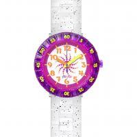 enfant Flik Flak Swirly Glitter Watch FCSP034