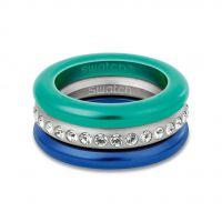 Damen Swatch Bijoux Edelstahl Merry Blau Ring Größe N