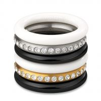 Damen Swatch Bijoux Edelstahl Merry Weiß Ring Größe L