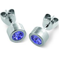 femme Swatch Bijoux Puntoluce Tanzanite Crystal Stud Earrings Watch JEV010-U