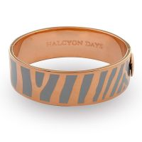 Ladies Halcyon Days Gold Plated Zebra Bangle 202/DH028