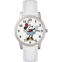 Disney Minnie Mouse Unisexklocka Vit MN1383