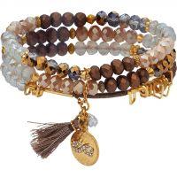 Damen Lonna And Lilly vergoldet Set of 3 dehnbar Armbänder