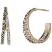 Ladies Judith Jack Base metal Pave Crystal Hoop Earrings 60434333-887