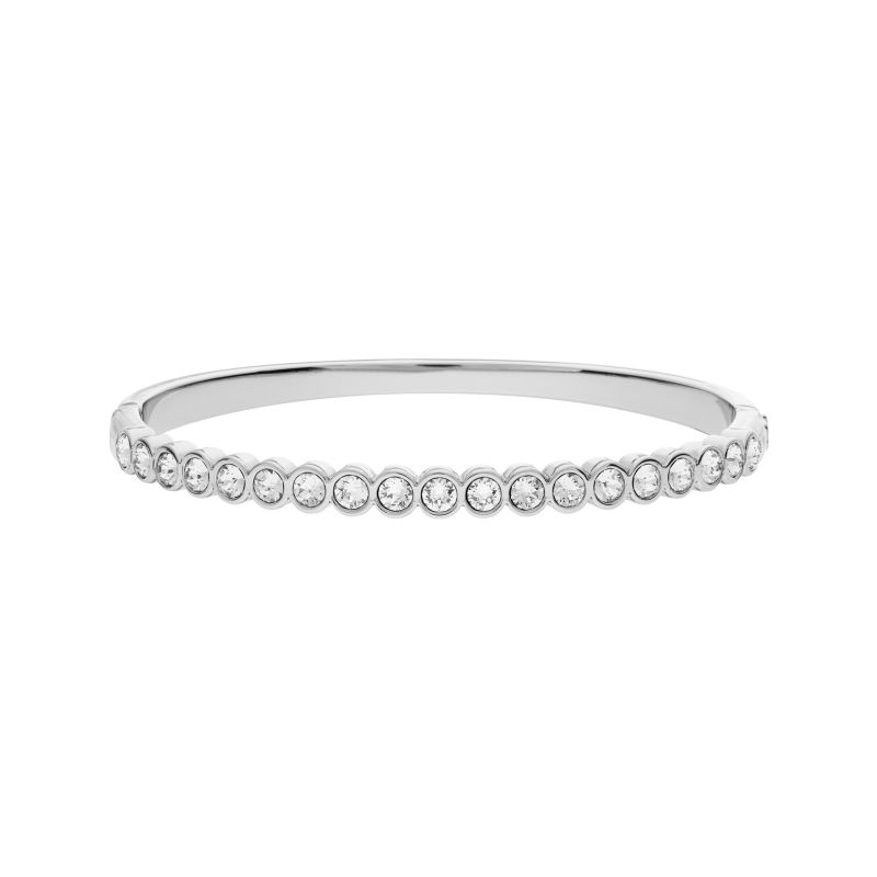 Ladies Lola & Grace Silver Plated Hinged Bangle 5296390