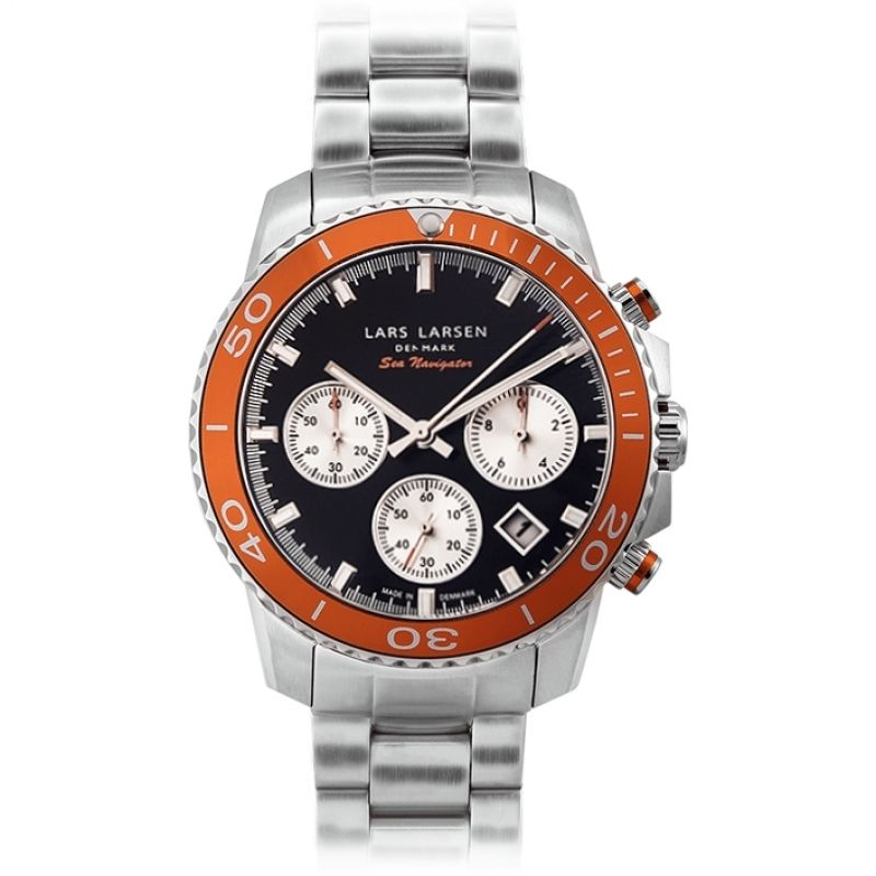 Mens Lars Larsen Sea Navigator Chronograph Watch