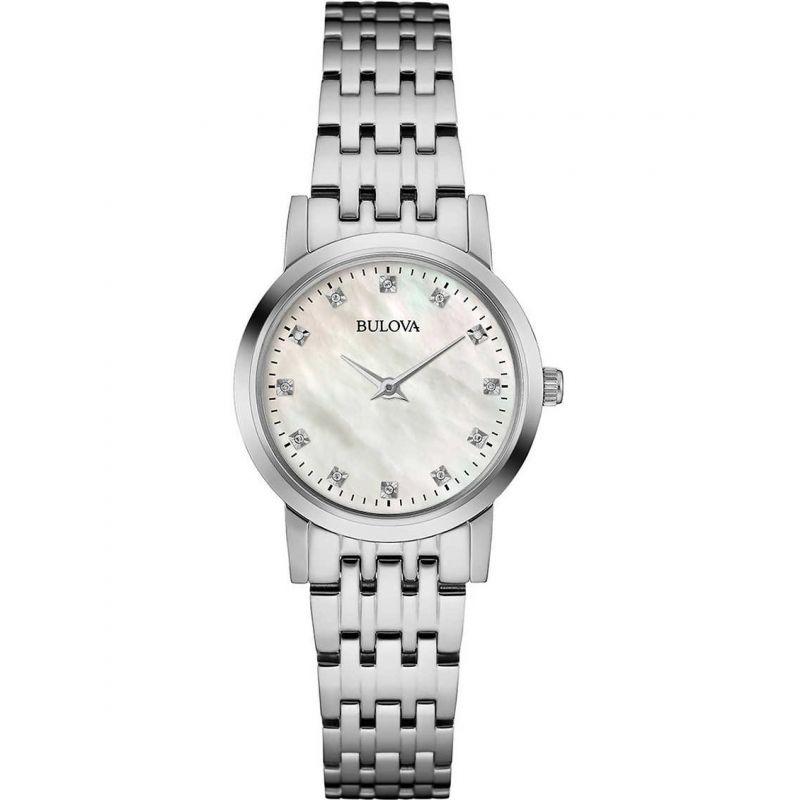 Damen Bulova Diamond Gallery Diamond Watch 96P175