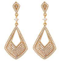 femme Gemstone Jewellery Black & White Cubic Zirconia Earrings Watch ZGE10290D-CZ