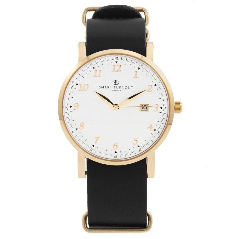 Unisex Smart Turnout Savant with Black Leather Strap Watch