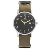 Orologio da Unisex Smart Turnout Savant with Grey Leather Strap STH5/SB/56/W-GRE