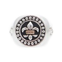 Joyería para Hombre Icon Brand Jewellery Rebel Heritage Lys Sovereign Ring Size Medium RH016-R-BLK-MED