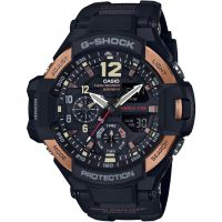 Herren Casio G-Shock Aviator Master Of G Vintage Black And Alarm Chronograph Watch GA-1100RG-1AER