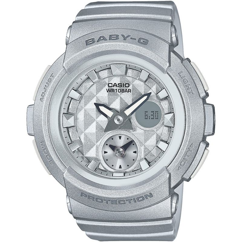 Ladies Casio Baby-G Stud Dial Alarm Chronograph Watch
