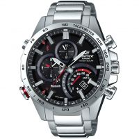 Mens Casio Edifice Bluetooth World Traveller Alarm Chronograph Solar Powered Watch