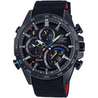Mens Casio Edifice Bluetooth World Traveller Toro Rosso Limited Edition Alarm Chronograph Solar Powered Watch