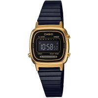 Casio Classic Collection Unisexkronograf Svart LA670WEGB-1BEF