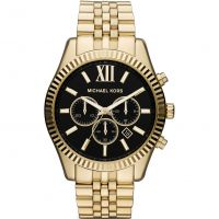Michael Kors Lexington Herenchronograaf Goud MK8286