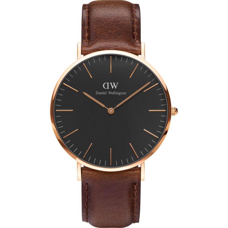 Unisex Daniel Wellington Classic Black Bristol Watch 40mm Watch