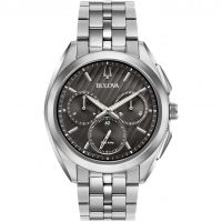 Bulova Progressive Dress CURV Herenchronograaf Zilver 96A186