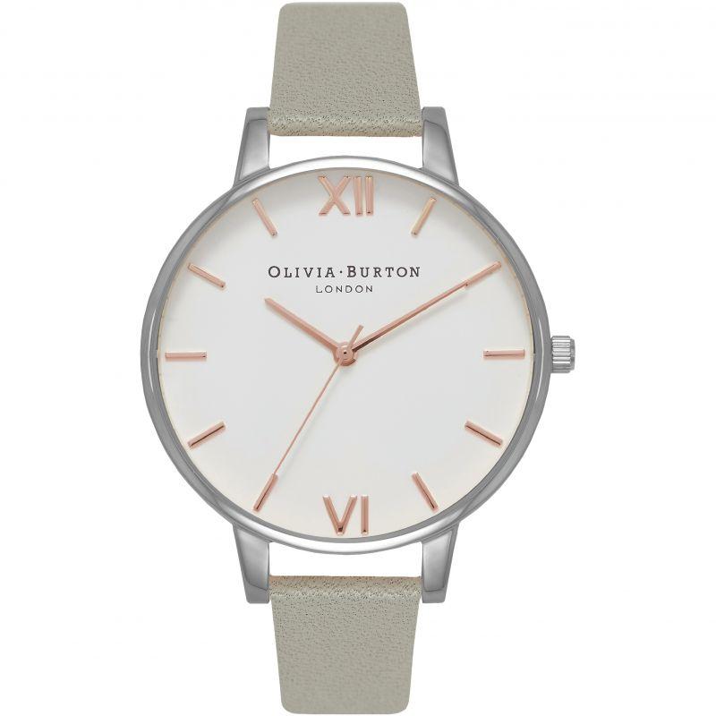 Damen Olivia Burton Big White Dial Watch OB16BDW22