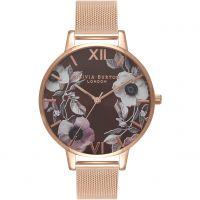 Damen Olivia Burton Big Dial geblümt Print Uhren