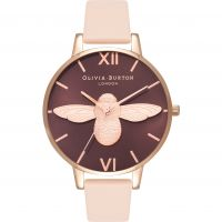 Damen Olivia Burton Animal Motif 3D Bee Big Dial Watch OB16AM99