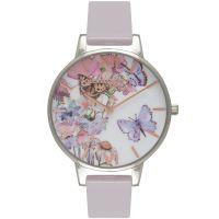 Damen Olivia Burton Painterly Prints geblümt Schmetterling Print Uhren