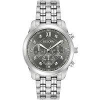 Herren Bulova Dress Chronograf Diamant Uhr