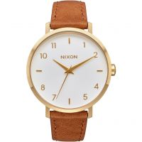 Nixon The Arrow Leather Damklocka Brun A1091-2621