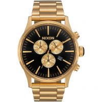 Nixon The Sentry Chrono Herenchronograaf Goud A386-510