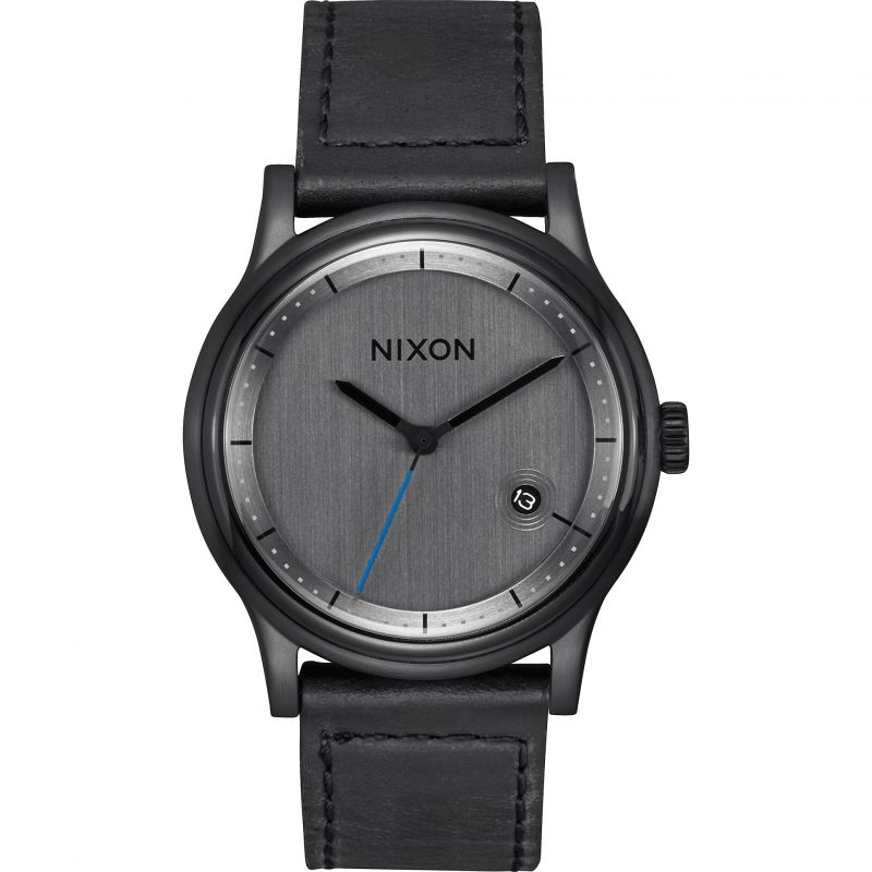 Mens Nixon The Station Leather Watch