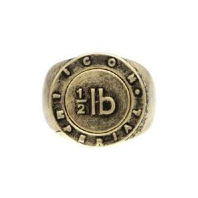 Mens Icon Brand Gold Plated Benoit Ring Size Large P1180-R-GLD-LGE