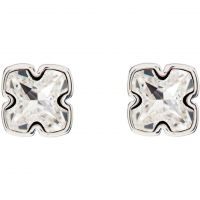 femme Karen Millen Jewellery Art Glass Flower Stud Earrings Watch KMJ924-01-02