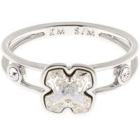 femme Karen Millen Jewellery Art Glass Flower Ring Size ML Watch KMJ925-01-02ML
