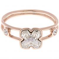 femme Karen Millen Jewellery Art Glass Flower Ring Size SM Watch KMJ925-24-02SM