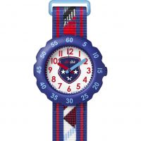 Kinder Flik Flak Tartan Style Uhren