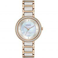 Ladies Citizen Silhouette Crystal Eco-Drive Watch