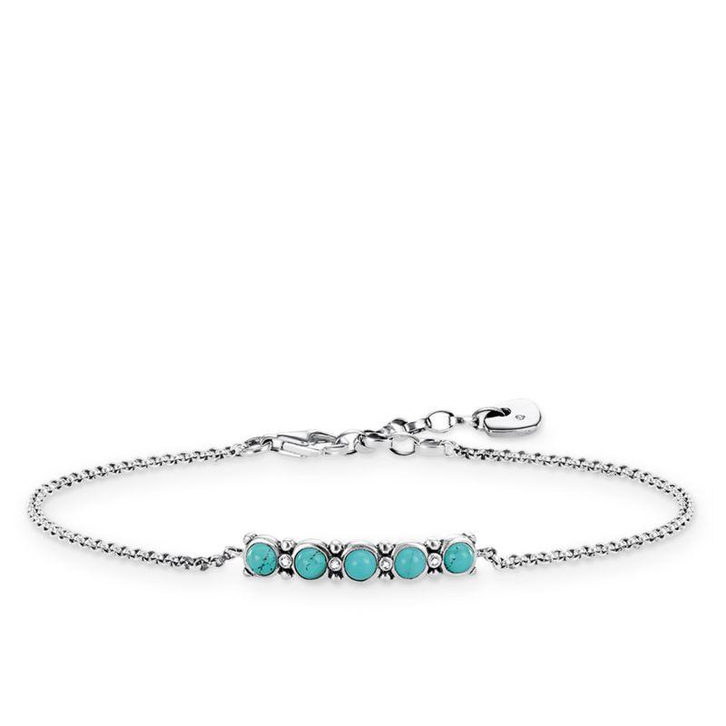 Ladies Thomas Sabo Sterling Silver Glam & Soul Diamond Bracelet A0015-357-17-L19V
