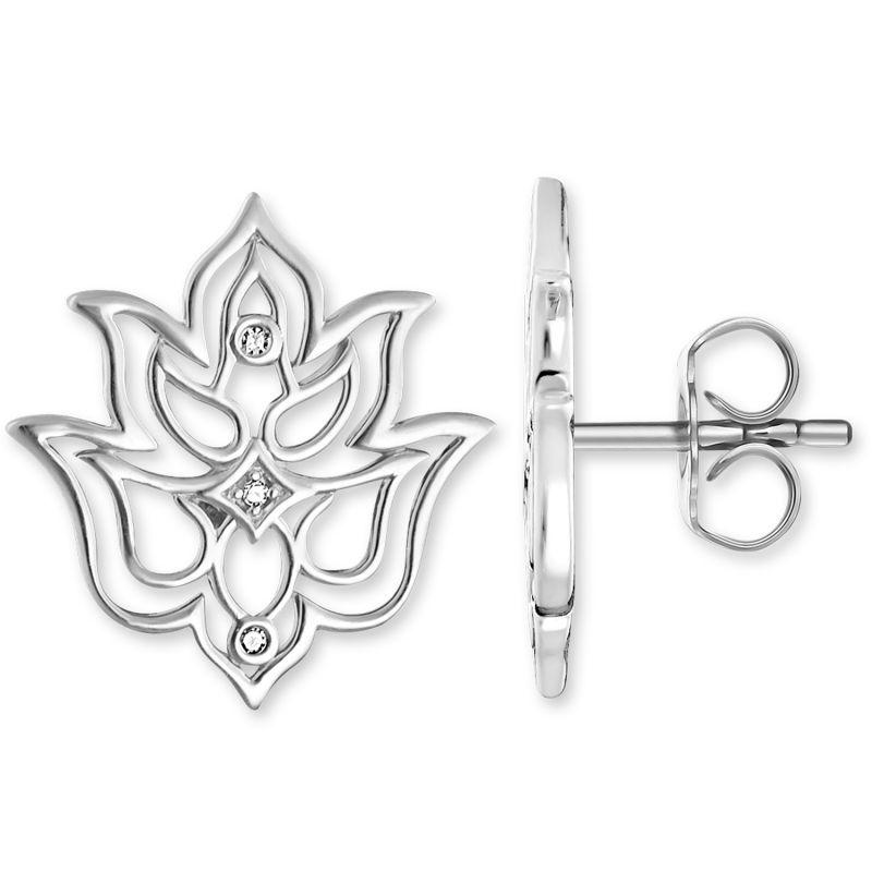 Ladies Thomas Sabo Sterling Silver Glam & Soul Diamond Stud Earrings H0007-725-21