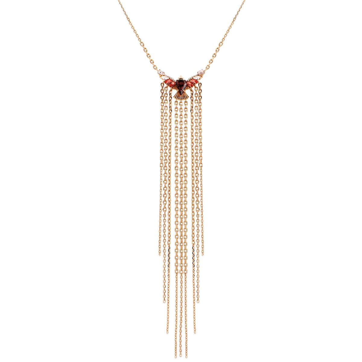 Ladies Juicy Couture Jewellery Rose Gold Plated Fringe Forward