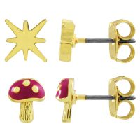 Juicy Couture Dames Magic Mushrooms Luxe Wishes Earring Set Verguld goud WJW86754-712