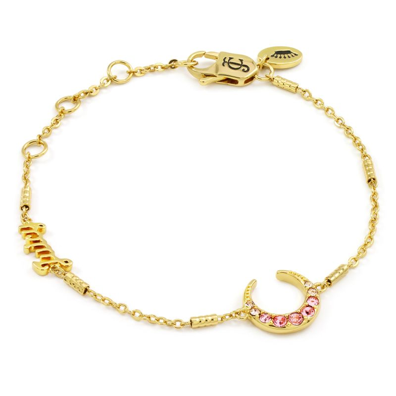 Juicy Couture Dames Celestial Sparkle Luxe Wishes Bracelet PVD verguld Goud WJW86755-712