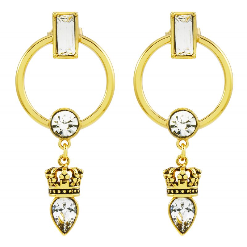 Juicy Couture Dames Celestial Sparkle Luxe Wishes Earrings PVD verguld Goud WJW86774-712