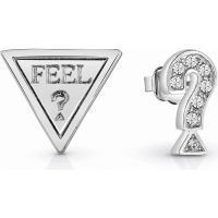 Ladies Guess Rhodium Plated FeelGuess Earrings UBE83082