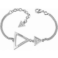 Ladies Guess Rhodium Plated Iconic 3Angles Bracelet
