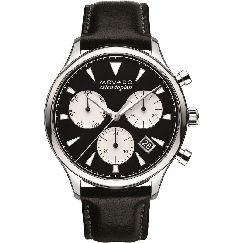 Mens Movado Heritage Series Calendoplan Chronograph Watch
